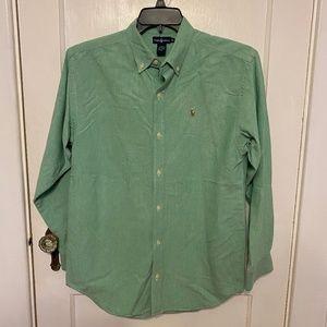 Ralph Lauren green button down shirt XL